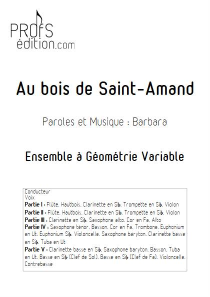 Au bois de saint-Amand - Ensemble Variable - BARBARA - front page