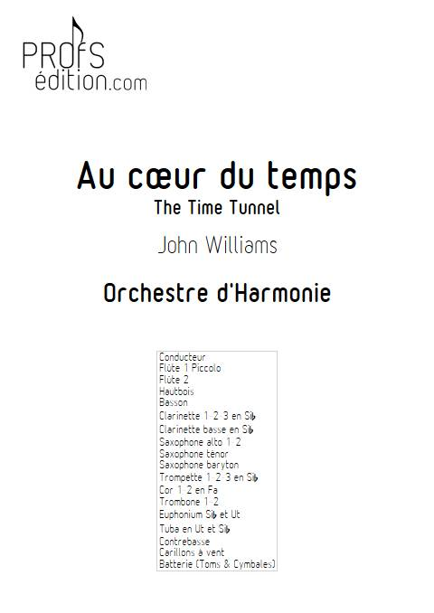 Au cœur du temps - Orchestre d'Harmonie - WILLIAMS J. - front page
