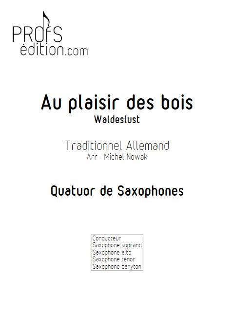 Au plaisir des bois - Quatuor de Saxophones - TRADITIONNEL ALLEMAND - front page