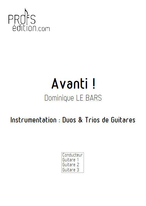 Avanti ! - Duos & Trios Guitare - LE BARS D. - front page