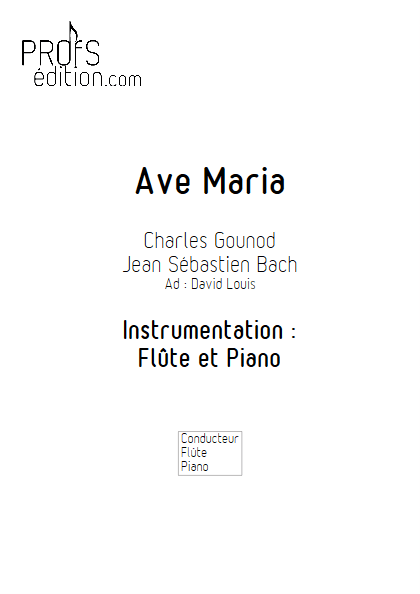 Ave Maria - Flûte et Piano - BACH & GOUNOD - front page
