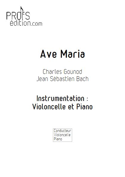 Ave Maria - Violoncelle et Piano - BACH & GOUNOD - front page