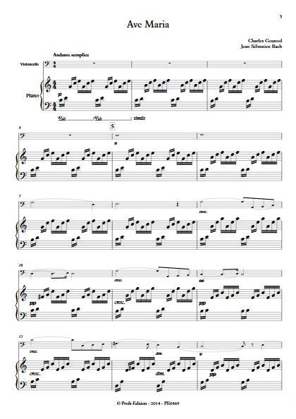 Ave Maria - Violoncelle et Piano - BACH & GOUNOD - app.scorescoreTitle
