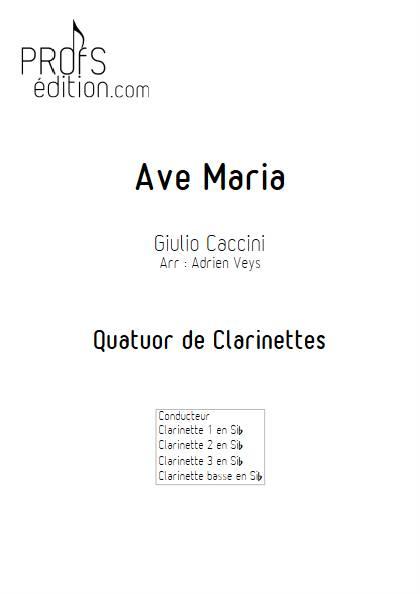 Ave Maria - Quatuor de Clarinettes - CACCINI G. - front page