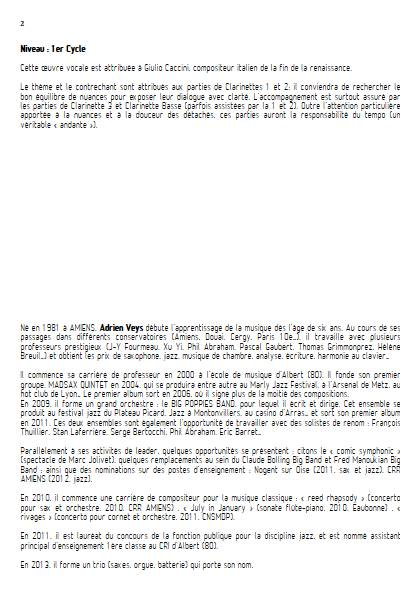 Ave Maria - Quatuor de Clarinettes - CACCINI G. - Educationnal sheet