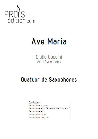Ave Maria - Quatuor de Saxophones - CACCINI G. - front page