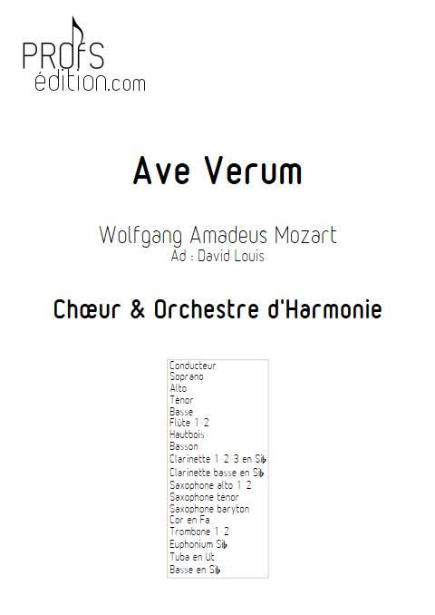 Ave Verum - Chœur et Harmonie - MOZART W. A. - front page