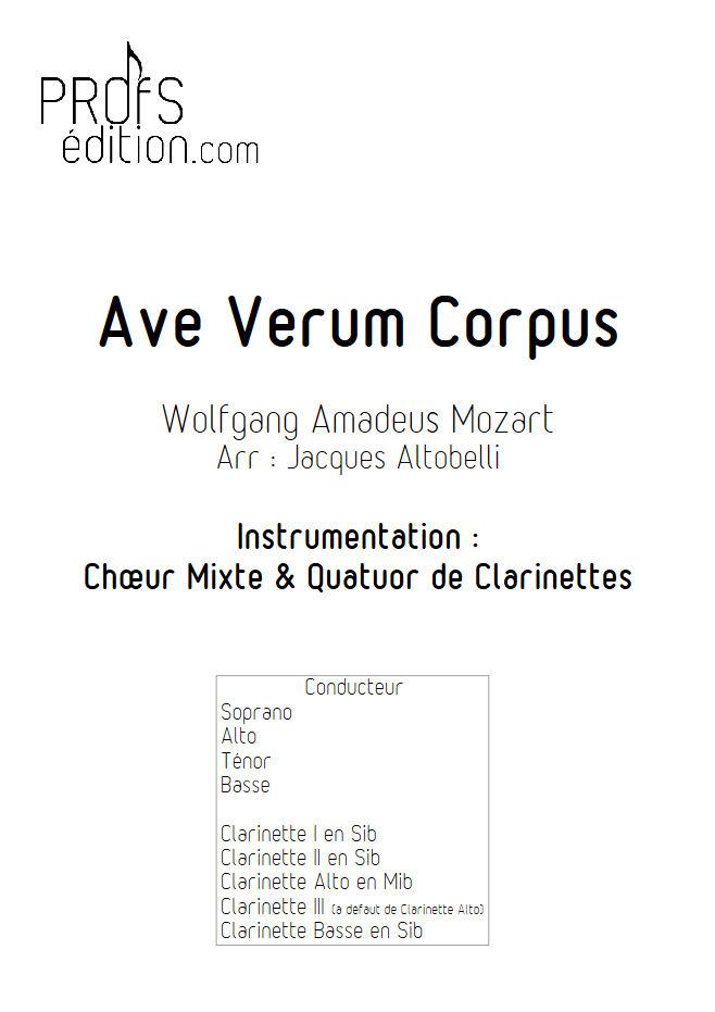 Ave Verum Corpus - Chœur & Quatuor Clarinettes - MOZART W. A. - front page