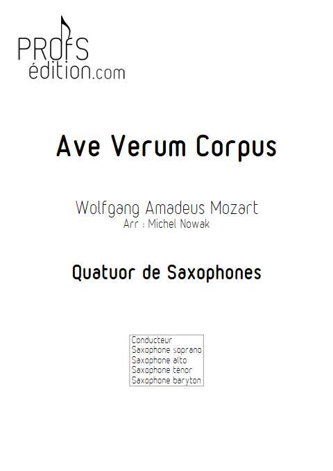 Ave Verum Corpus - Quatuor de Saxophones - MOZART W. A. - front page