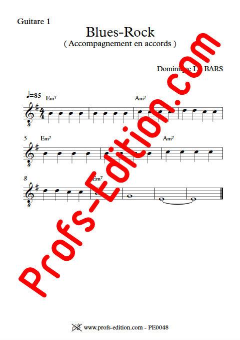 Blues-Rock - Trios Guitare - LE BARS D. - app.scorescoreTitle
