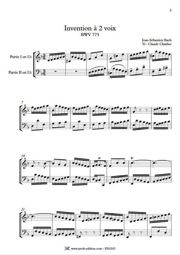 Invention BWV 775 - Duo - BACH J. S. - app.scorescoreTitle