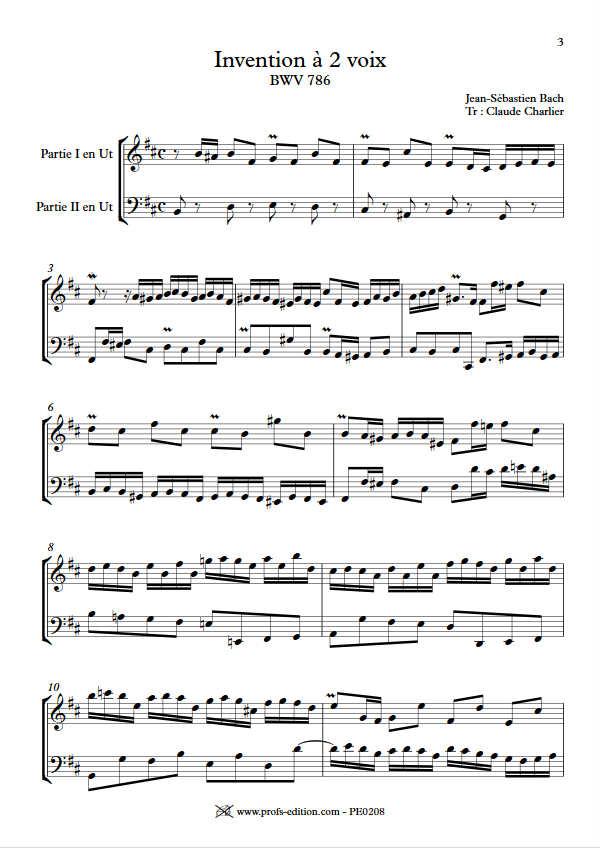 Invention BWV 786 - Duo - BACH J. S. - app.scorescoreTitle