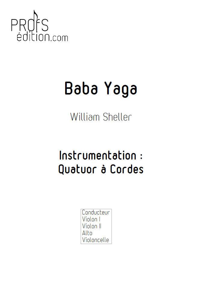 Baba Yaga - Quatuor à Cordes - SHELLER W. - front page