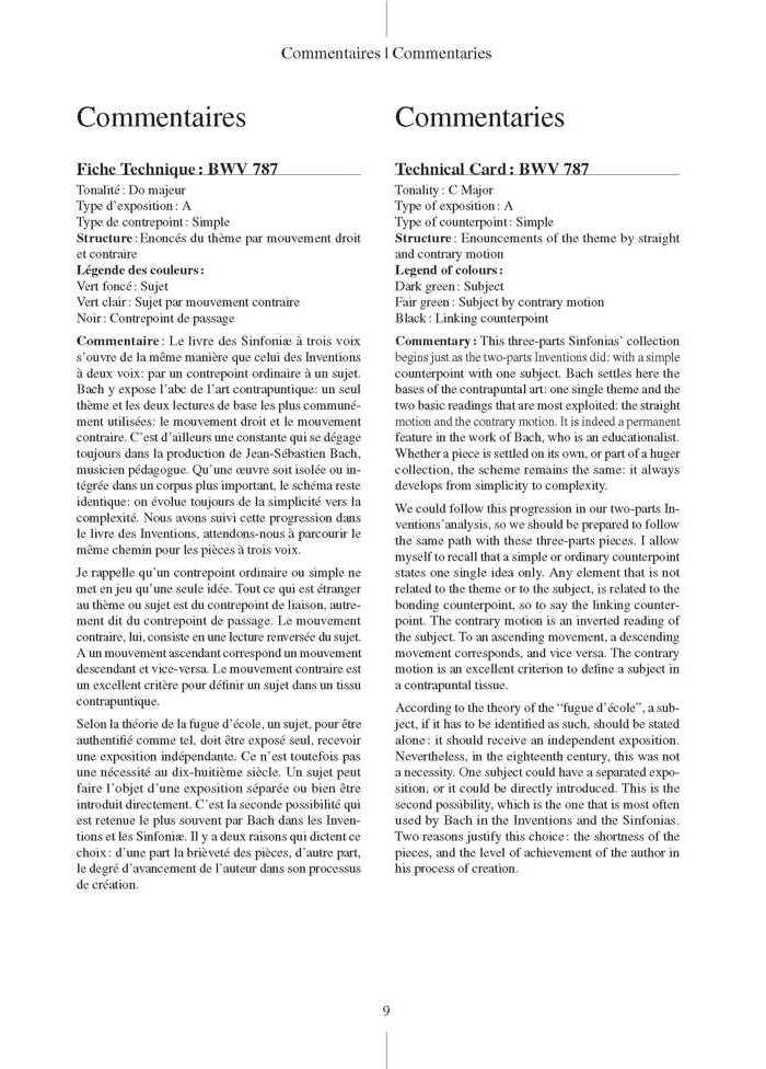 Bach en Couleurs (Inventions à 3 voix) Sinfoniae BWV 787 à 801 - Analyse Musicale - CHARLIER C. - app.scorescoreTitle