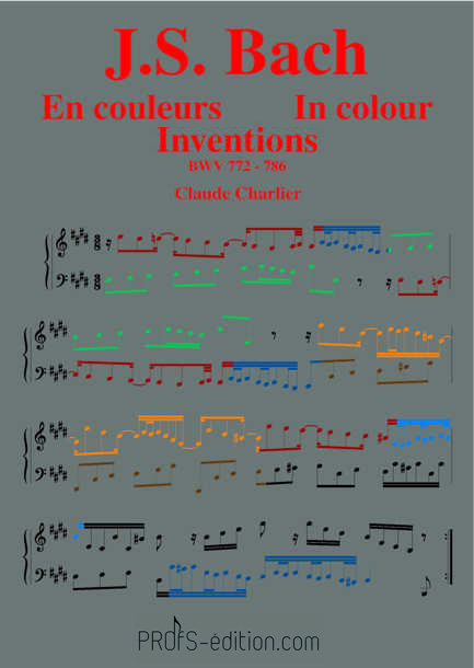 Bach in colour – BWV 772-786 Inventions - Analysis - CHARLIER C. - front page