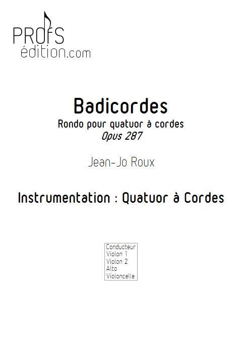 Badicordes - Quatuor à Cordes - ROUX J.J. - front page