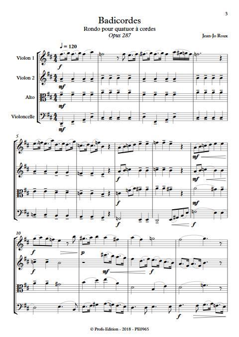 Badicordes - Quatuor à Cordes - ROUX J.J. - app.scorescoreTitle