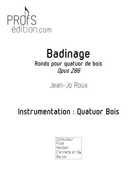 Badinage - Quatuor Bois - ROUX J.J. - front page