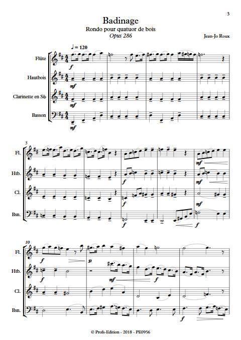 Badinage - Quatuor Bois - ROUX J.J. - app.scorescoreTitle
