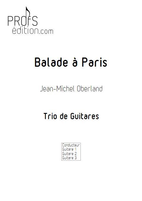 Balade à Paris - Trio Guitares - OBERLAND J.M. - front page