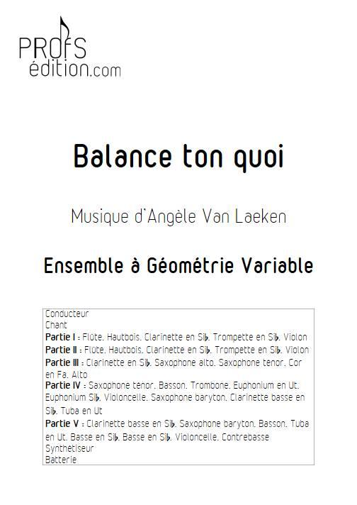 Balance ton quoi - Ensemble Variable - ANGELE - front page