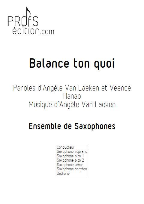 Balance ton quoi - Ensemble de Saxophones - ANGELE - front page