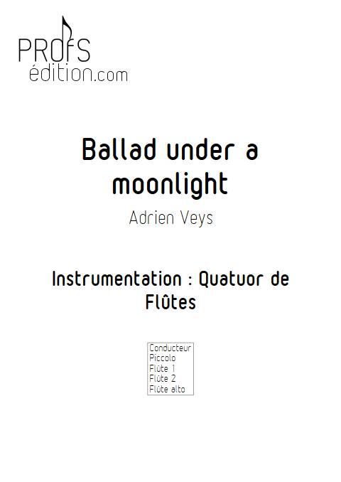 Ballad under a moonlight - Ensemble de Flûtes - VEYS A. - front page