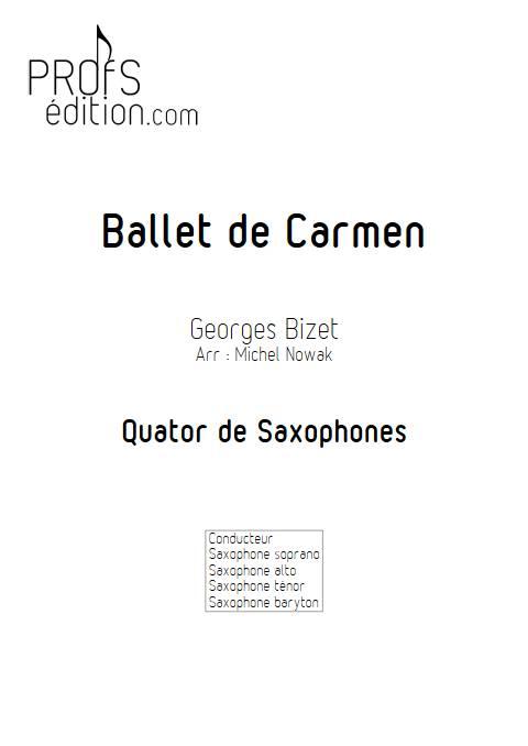 Ballet de Carmen - Quatuor de Saxophones - BIZET G. - front page