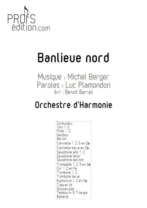 Banlieu Nord - Orchestre d'Harmonie - BERGER M. - front page