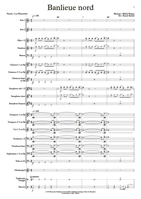 Banlieu Nord - Orchestre d'Harmonie - BERGER M. - app.scorescoreTitle