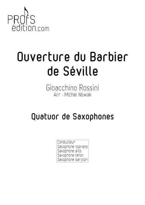 Barbier de Séville - Quatuor de Saxophones - ROSSINI G. - front page