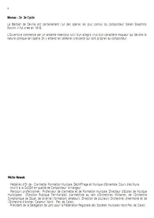 Barbier de Séville - Quatuor de Saxophones - ROSSINI G. - Educationnal sheet