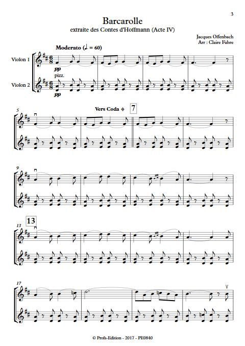 Barcarolle - Duo Violons - TCHAIKOVSKI P. I. - app.scorescoreTitle