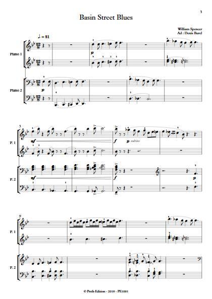 Basin Street Blues - Duo Piano - WILLIAMS S. BUREL D. - app.scorescoreTitle