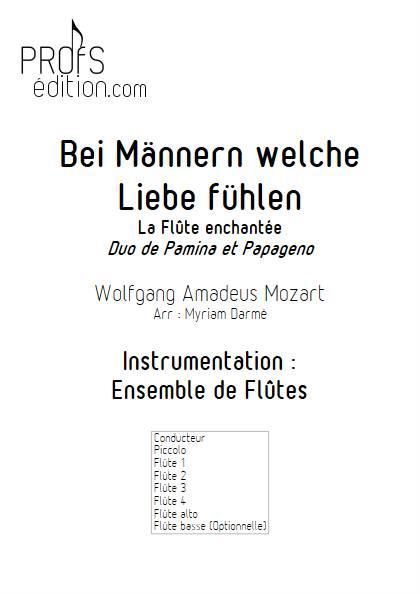 Bei Männern welche Liebe fühlen - Ensemble de Flûtes - MOZART W.A. - front page