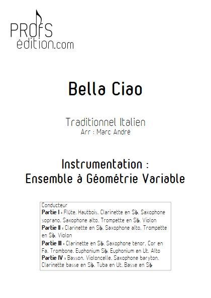 Bella Ciao - Ensemble Variable - TRADITIONNEL ITALIEN - front page