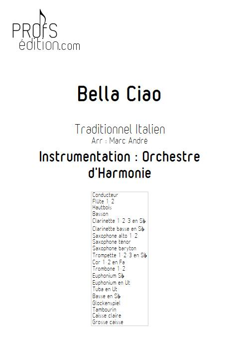 Bella Ciao - Orchestre d'Harmonie - TRADITIONNEL ITALIEN - front page