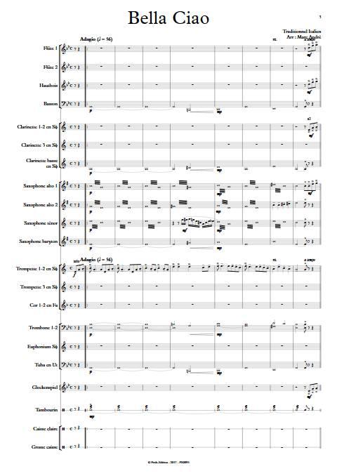 Bella Ciao - Orchestre d'Harmonie - TRADITIONNEL ITALIEN - app.scorescoreTitle