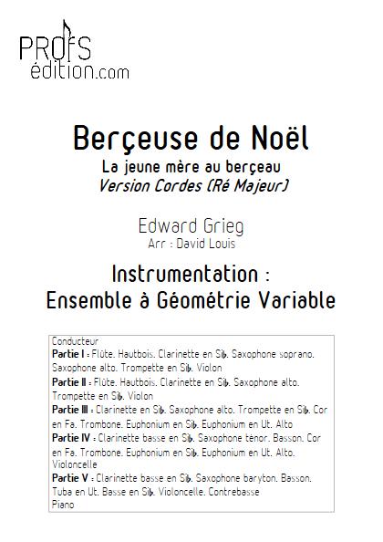 Berceuse de Noël -Ensemble à Géométrie Variable - GRIEG E. - front page
