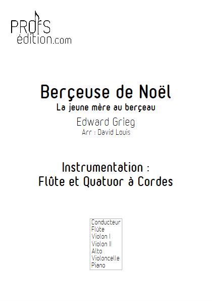 Berçeuse de Noël - Flûte et Quatuor à Cordes (ou Piano) - GRIEG E. - front page