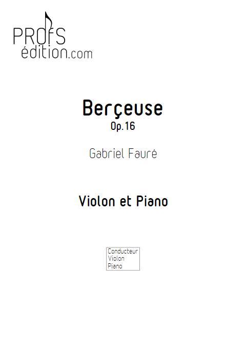 Berçeuse - Violon et Piano - FAURE G. - front page