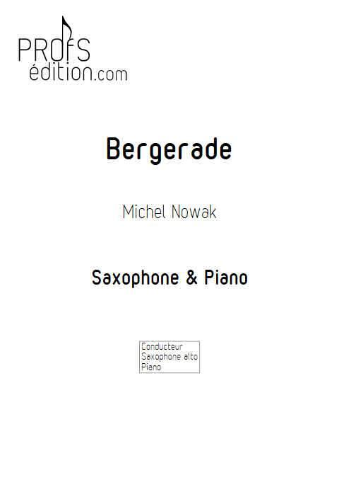 Bergerade - Saxophone Piano - NOWAK M. - front page