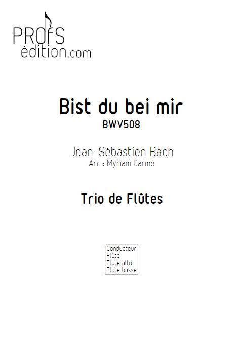 Bist du bei mir - Trio de flûtes - BACH J. S. - front page