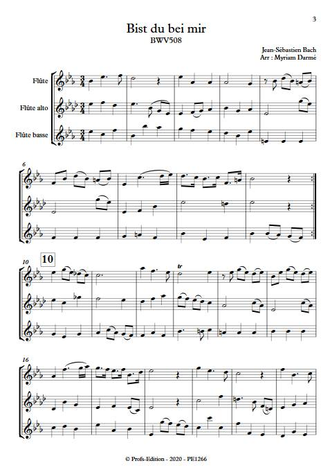 Bist du bei mir - Trio de flûtes - BACH J. S. - app.scorescoreTitle