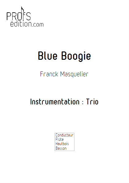 Blue Boogie - Trio - MASQUELIER F. - front page