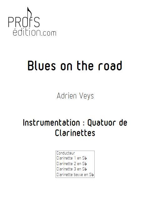 Blues on the road - Quatuor de Clarinettes - VEYS A. - front page