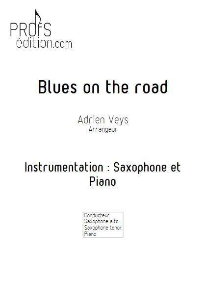 Blues on the road - Saxophone Piano - VEYS A. - front page