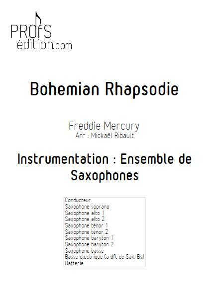 Bohemian Rhapsody - Ensemble de Saxophones - MERCURY F. - front page