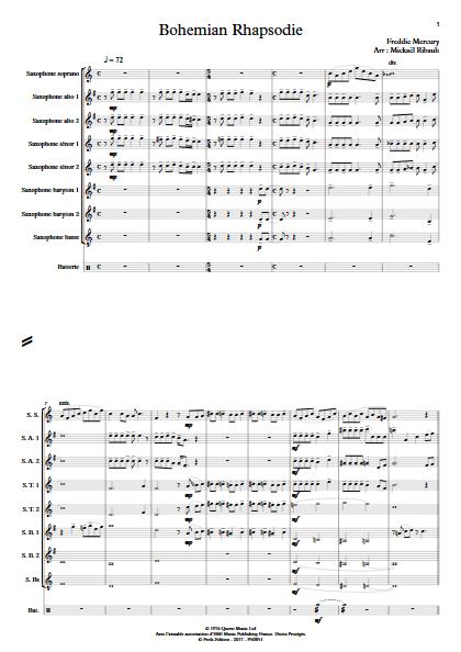 Bohemian Rhapsody - Ensemble de Saxophones - MERCURY F. - app.scorescoreTitle
