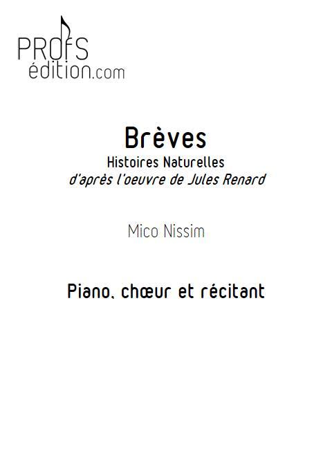 Brèves - Chœur et Piano - NISSIM M. - front page